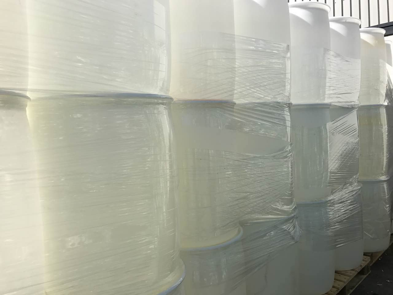HDPE drums in bales