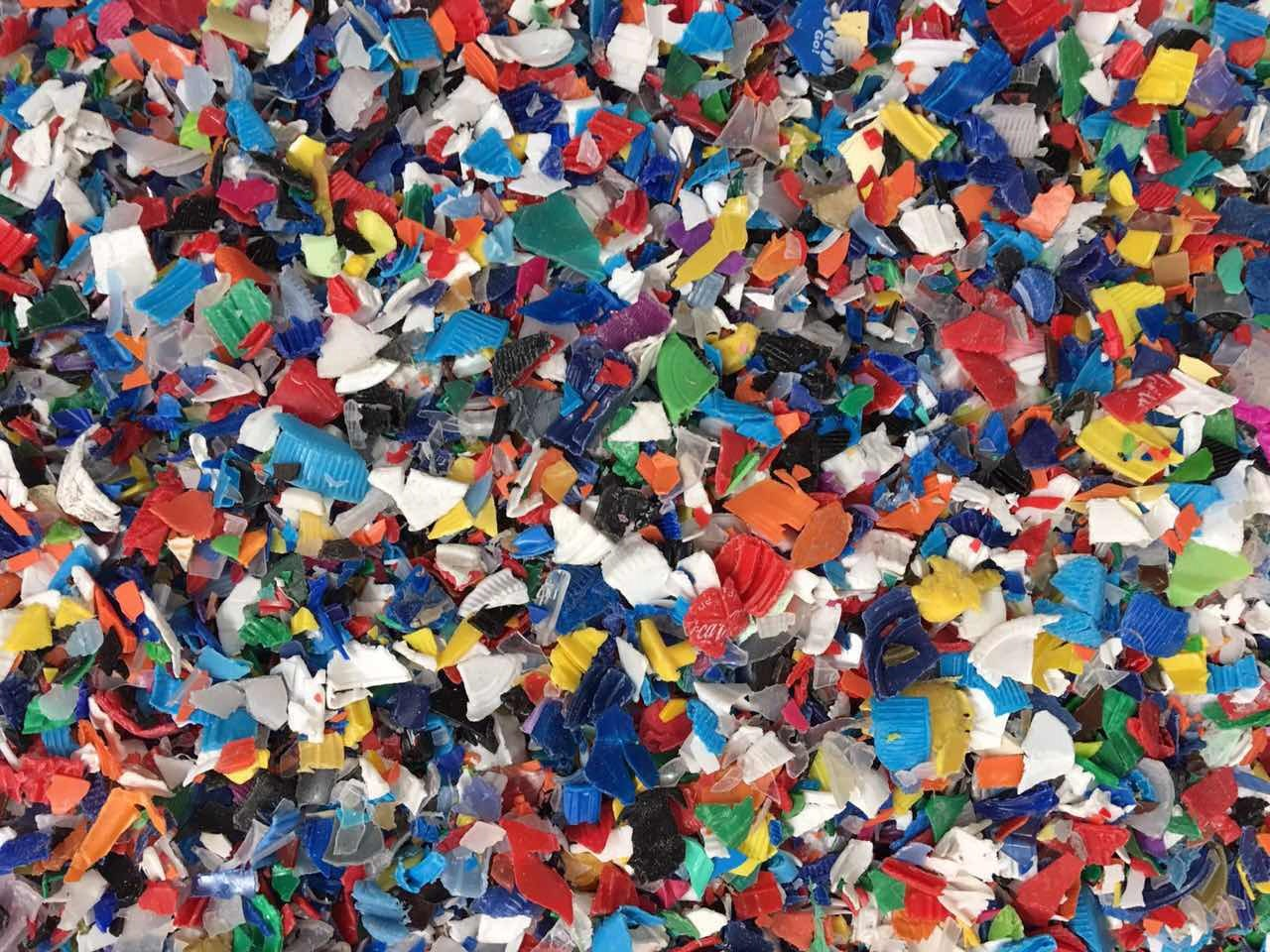 HDPE cap shredded