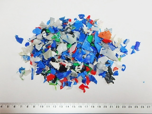 HDPE drums shredded