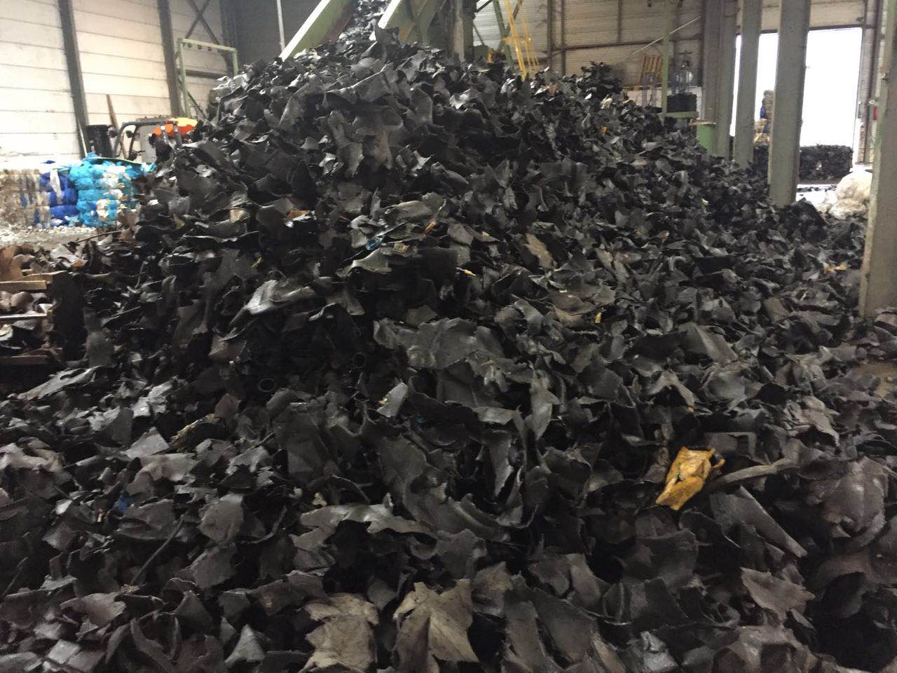 HDPE tanks shredded in bales
